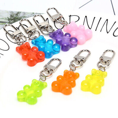 Cute Resin Animal Gummy Bear Keychain Keyring For Earphone Cover Jewelry GifDS • 2.10£
