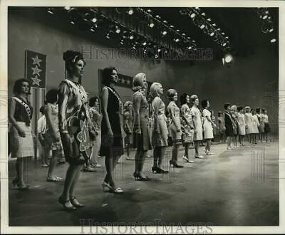 $17.88 • Buy 1965 Press Photo Miss USA Pageant Contestants During Television Rehearsal
