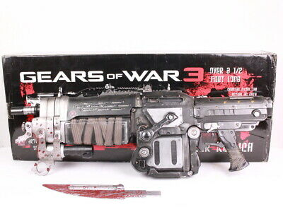 $268.95 • Buy Official Gears Of War 3 Bloody Retro Lancer Video Game Replica - Free Shipping
