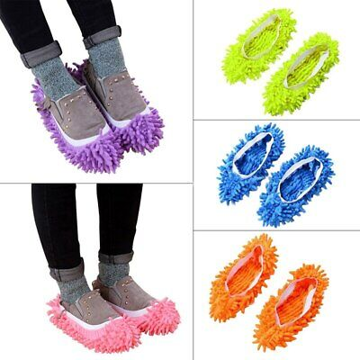Microfiber Duster Shoe Sock Slippers Mop Dust Remover Cleaning Floor Polisher • 1.99£