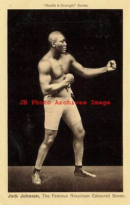 $78 • Buy Black Americana, Health & Strength Series, Boxer Jack Johnson, Boxing