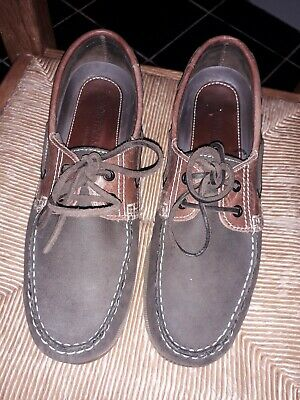 YACHTSMAN BY SEAFARER MENS SIZE 42 LEATHER DECK BOAT SHOES IN Suede/leather • 17£