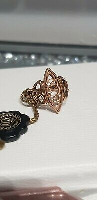 Clogau Yellow & Rose Welsh Gold Queen Eleanor Ring Size O Full Hallmarks • 215£