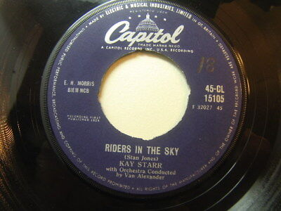 "Kay Star – Riders In The Sky 1959 7"" Capitol CL 15105 • 3.50£"