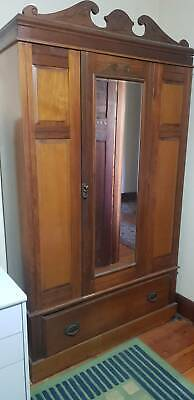 AU180 • Buy Red Cedar Mirrored Wardrobe Antique