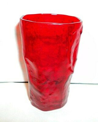 $19 • Buy Vintage Morgantown Red Gypsy Fire Crinkle Juice Glass Mcm Glass Excellent