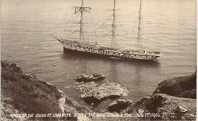 £30 • Buy Cadgwith Near Coverack. Socoa Shipwreck 1906. Struck The Rocks During A Fog.