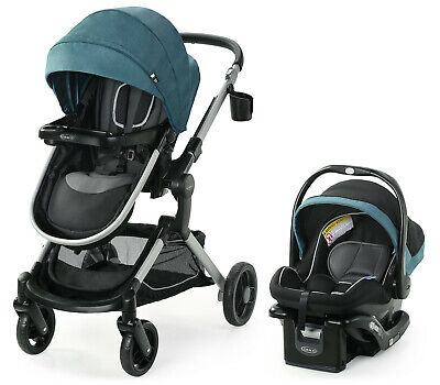 Graco Modes Nest Travel System Stroller With SnugRide 35 Elite Car Seat Bayfield • 274.96£