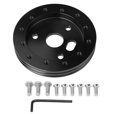 $12.76 • Buy Universal Steering Wheel To Grant 3 Hole 0.5in Hub Spacer Pad For 6 Hole Adapter