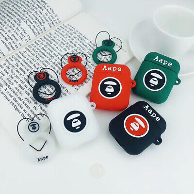 $ CDN16.29 • Buy Aape- AirPods Silicone Case Cover Apple Airpod 1/2 Charging+Keychain Lovers New