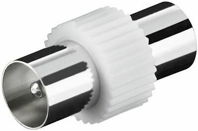 £2.49 • Buy TV Aerial Lead Coupler Male To Male Socket Coax Connector Coaxial Adapter X 2
