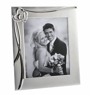 £22.99 • Buy Personalised Joined Hearts Silver Photo Frame Engraved Wedding Engagement Gift