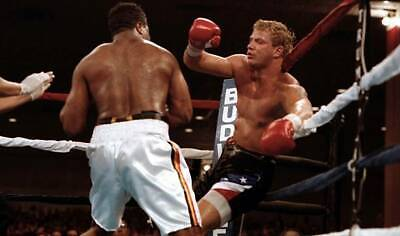 OLD BOXING PHOTO Ray Mercer Knocks Out Tommy Morrison 1 • 4.69£
