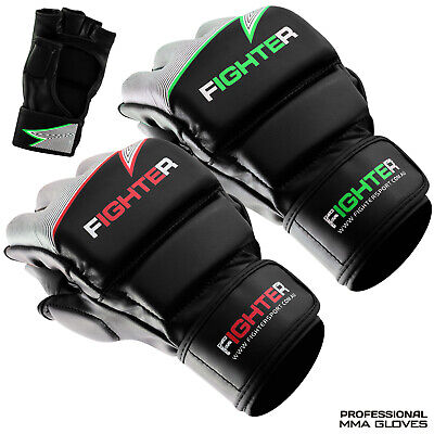 AU29.99 • Buy Leather Boxing MMA Gloves Grappling  Punch Bag Fighting Training Black