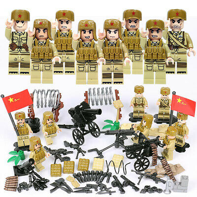 $19.99 • Buy WWII Chinese Army Soldiers Minifigure Squad Military Building Blocks Toy