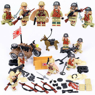 $17.99 • Buy WWII Japanese Army Soldiers Minifigure Squad Military Building Blocks Toy