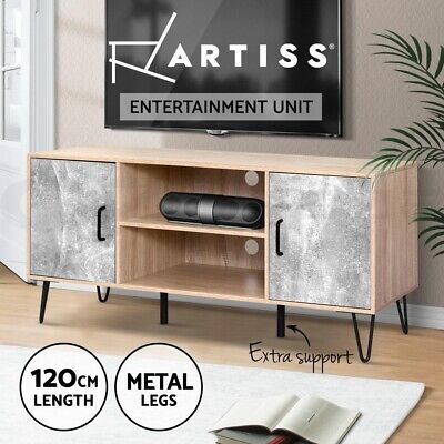 AU109.95 • Buy Artiss TV Cabinet Entertainment Unit Stand Wooden Storage Shelf 120cm