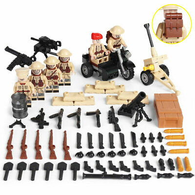 $18.99 • Buy WWII British Army Soldiers Minifigure Squad Military Building Blocks Toy