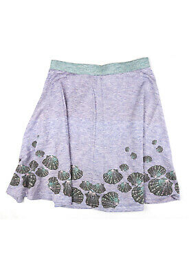 £10 • Buy Fearless Illustration | 'Candy Shores' Skater Skirt | Purple | Sizes S - XL