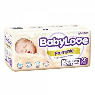 AU102.41 • Buy Babylove Premmie Nappy - 30 Pack Carton4