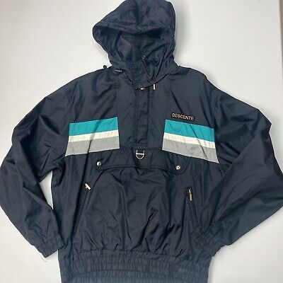 $48 • Buy VTG 90's DESCENTE 1/4 Zip Pullover Removable Hood Snowboard Ski Jacket Small
