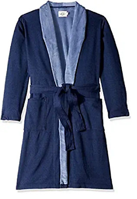 $94.50 • Buy UGG Men's M Robinson Two Tone Dressing Gown / Robe (Color - Navy M/L)
