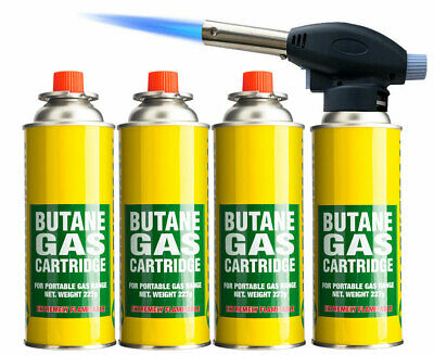 Blow Torch Butane Flame Thrower Burner Welding Auto Ignition Blowtorch Weed BBQ  • 6.99£