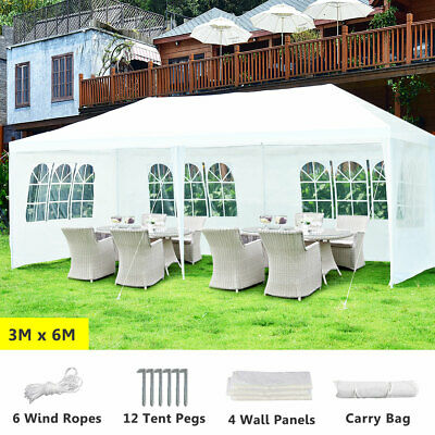 AU105 • Buy 3x6m Gazebo Party Wedding Marquee Outdoor Event Tent Camping Canopy BBQ Shelter