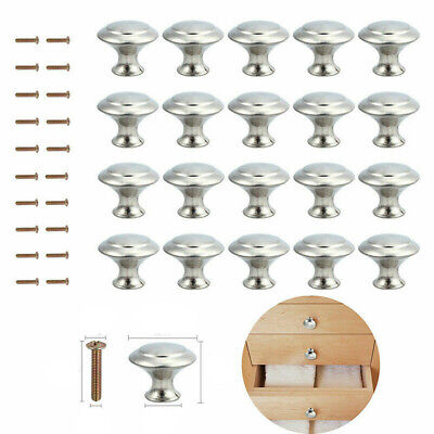20x Brushed Chrome Cupboard Cabinet Door Knobs Handles Kit Drawer Wardrobe Knobs • 6.89£