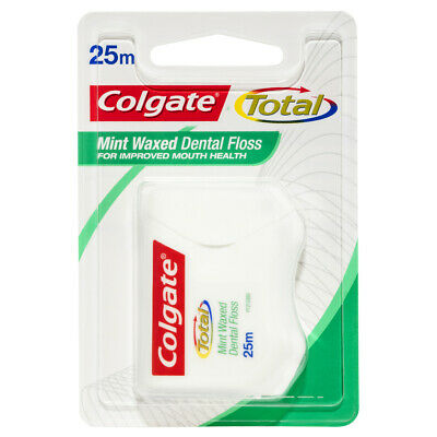 AU12.04 • Buy Colgate Total Mint Waxed Durable Oral Care Dental Floss 25m