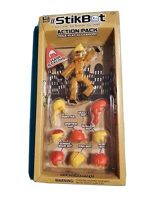 #STIKBOT ACTION PACK ROLE PLAY ACCESSORY Red Blonde Hair Styling Zing Global Ltd • 7.15£