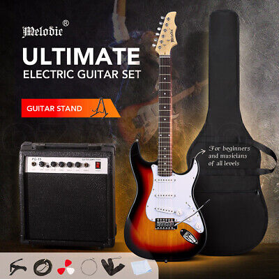 AU179.95 • Buy Melodic 39  Electric Guitar Full-Size Rock Amplifier W/ Guitar Stand Bag Strings