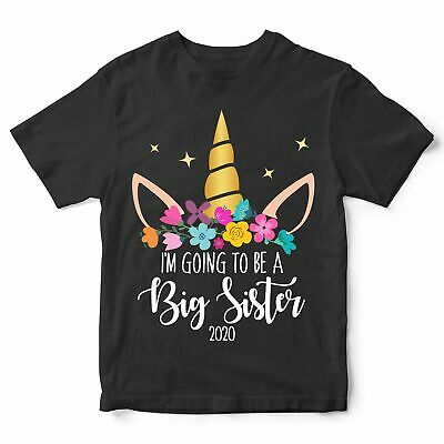 Im Going To Be A Big Sister T Shirt Cute Promoted Unicorn Gift Add Your Year • 10.95£