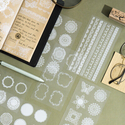 AU2.39 • Buy Lace Stickers Stationery Bullet Journal Japanese Style Laptop Gift Diary Ins