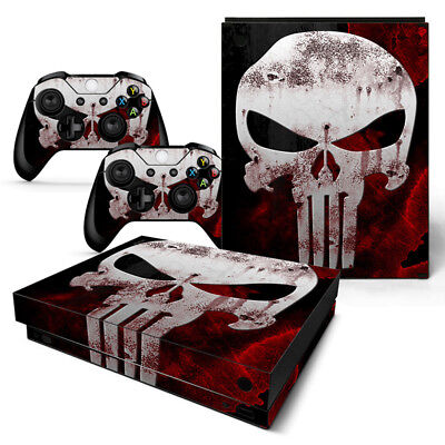 $13.97 • Buy Xbox One X Punisher Console & 2 Controllers Decal Vinyl Skin
