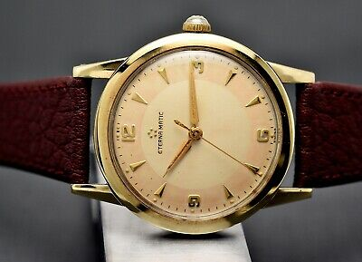 Vintage ETERNA Automatic, Capped 34,5mm, Two Tone Tropical Dial, 50s Mens Watch • 421.68£