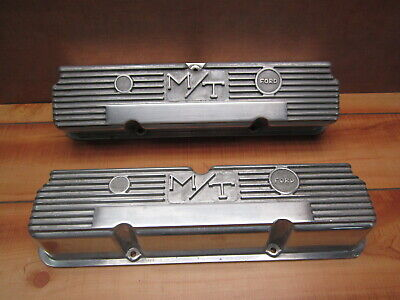 $199.99 • Buy Mickey Thompson Ford FE 390 406 427 428 Vintage M/T Finned Aluminum Valve Covers