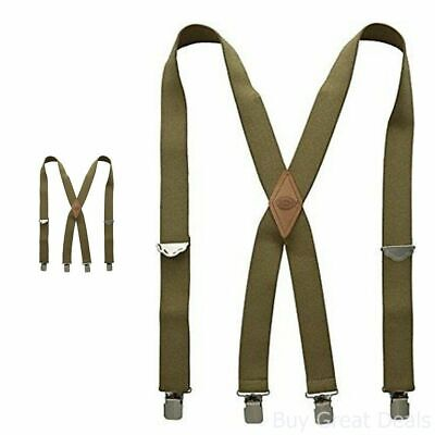 $12.50 • Buy Dickies Mens Elastic Work Suspender Braces Mossy Green Olive