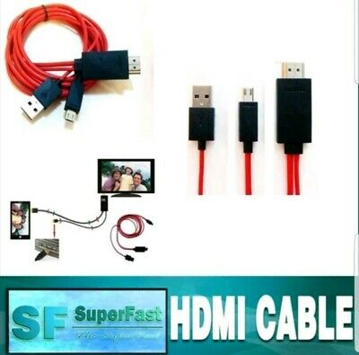 AU12.50 • Buy Micro USB MHL To HDMI Cable Adapter HDTV For Most Smart Phones 1M