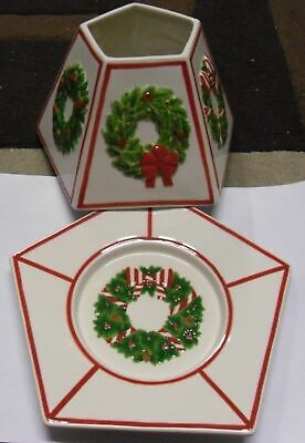 Yankee Candle Pentagon Wreath Medium Or Large Jar Shade & Tray Set Vhtf • 54.95£