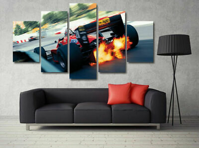 AU79.53 • Buy F1 Formula One High Speed Car 5 Pieces Canvas Wall Art Poster Print Home Deco