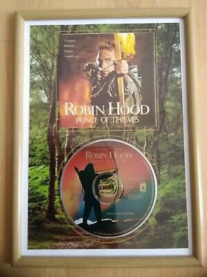 Robin Hood Prince Of Thieves Framed Soundtrack CD & Cover Display Movie Gift • 4.99£