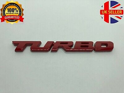 Turbo Boot Badge Red 3D Rear Tailgate Emblem Sticker All Models • 3.99£