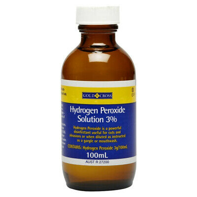 AU12.66 • Buy GOLD CROSS HYDROGEN PEROXIDE 3% ORAL GARGLE MOUTHWASH WOUND CLEANSING 100mL