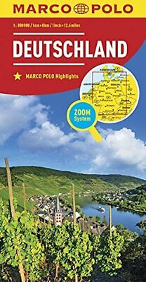 $15.30 • Buy Marco Polo Duitsland: Wegenkaart 1:800 000 By Collectif Book The Fast Free