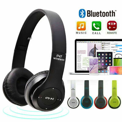 $12.89 • Buy Wireless Bluetooth Headphones Headset Noise Cancelling Over Ear With Microphone