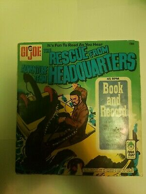 $ CDN17.02 • Buy GI Joe The Rescue From Adventure Team Headquarters Book And Records 1973 Hasbro