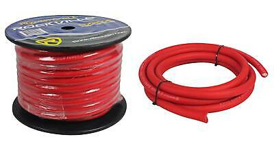 AU146.59 • Buy Rockville R0G100 RED 0 Gauge AWG 100 Foot Spool Car Amp Power/Ground Wire Cable