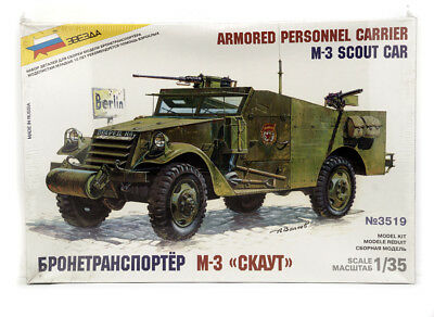 $22 • Buy Zvezda 3519 Kit 1/35  M-3 Scout Car , Armored Personnel Carrier , New