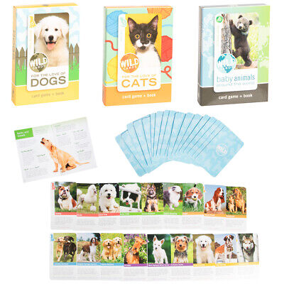 View Details Wild Animal Flash Card Game Book For Kids Educational Learning Cats Dogs Babies • 6.99$
